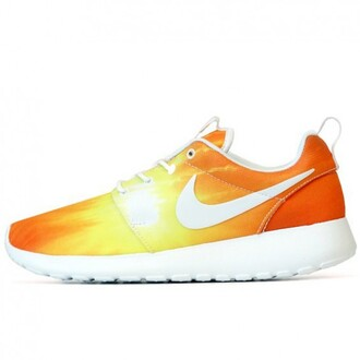 shoes nike yellow orange summer cool sporty fashion boogzel