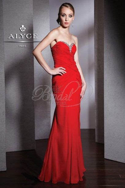dress elegant red dress prom dress