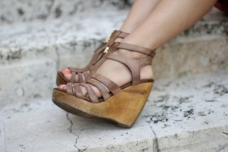 shoes wedges brown wedges wood wedges wooden wedges leather wedges wedge heel light brown wedges