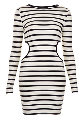 Petite Stripe Cutout Midi Dress - Petite - New In This Week  - New In - Topshop