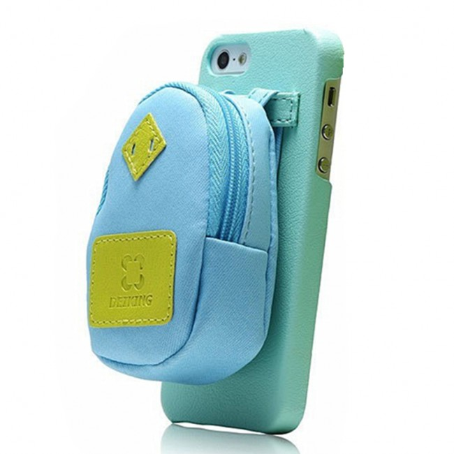 Creative backpack storage leather phone case for iphone 5 for Creative iphone case ideas
