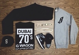 shirt black white dubai 70s style g wagon dope outfitgrid arabic kanye west asap rocky shoes sweater