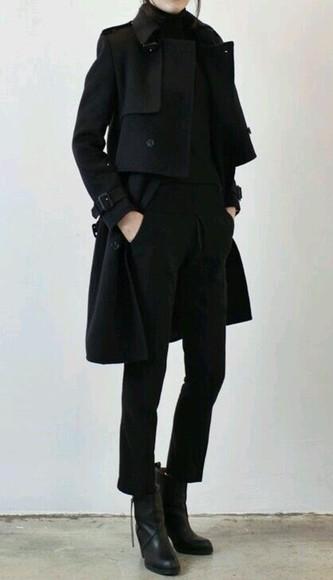 black coat winter coat