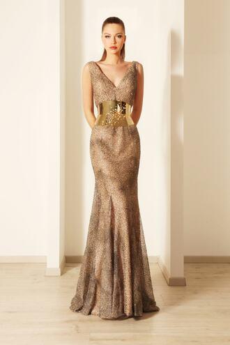 dress new year's eve crystal dress corset belt evening dress