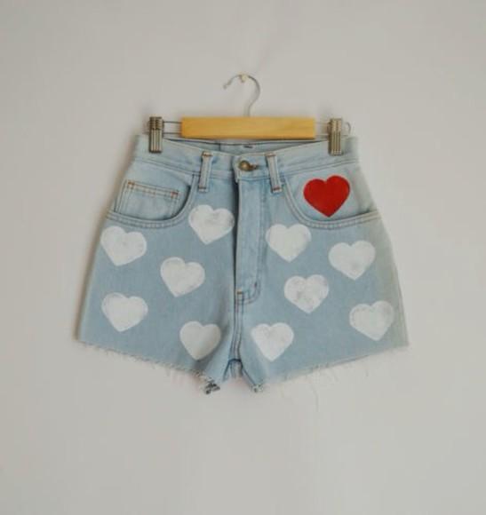 shorts hearts heart