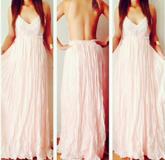 dress lace dress low back maxi