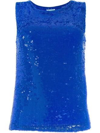 women spandex blue top