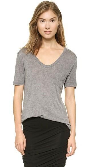 shirt t shirt. classic grey heather grey top