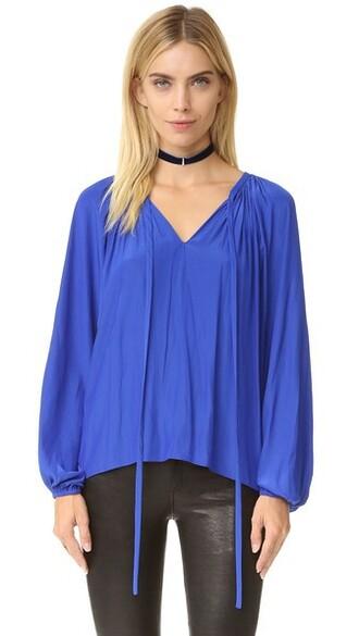 blouse paris blue top