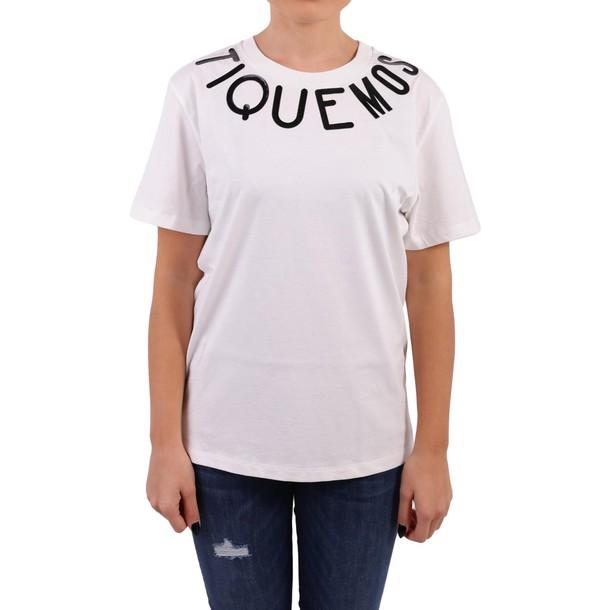 BOUTIQUE MOSCHINO t-shirt shirt cotton t-shirt t-shirt cotton white top