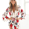 Women's wrapped floral printed romper