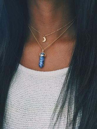 jewels necklace crystal quartz