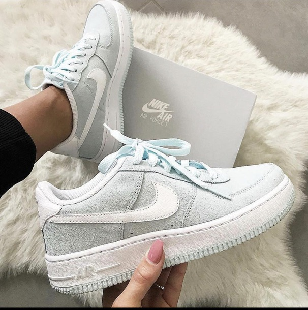 shoes light blue nike nike shoes nike air nike sneakers nike air force 1 nike forces