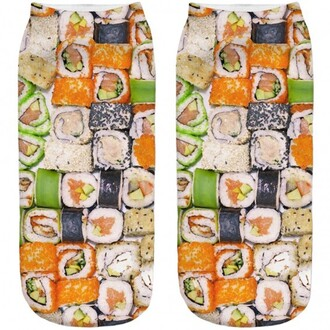 socks sushi funny food teenagers fashion style trendy boogzel