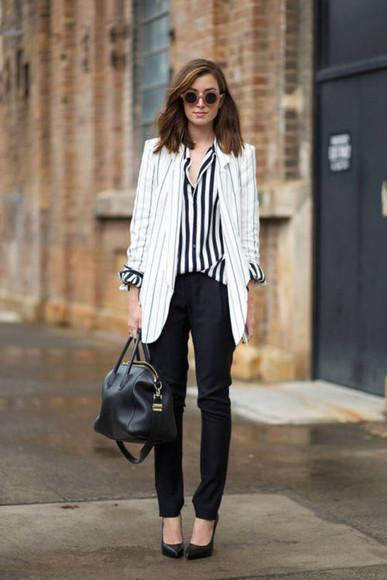 blazer cardigan striped blazer long blazer