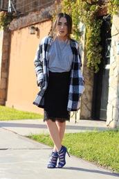 platforms for breakfast,blogger,lace skirt,black skirt,flannel,strappy sandals
