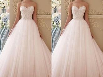dress prom dress pastel pink ball gown dress maxi dress