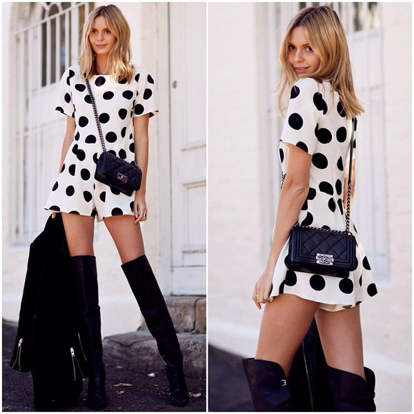 jumpsuit jumpsuit black and white sexy summer summer outfits bag shoes