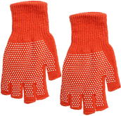 gloves,candy luxx,mitten,fingerless gloves,orange gloves,spotted gloves