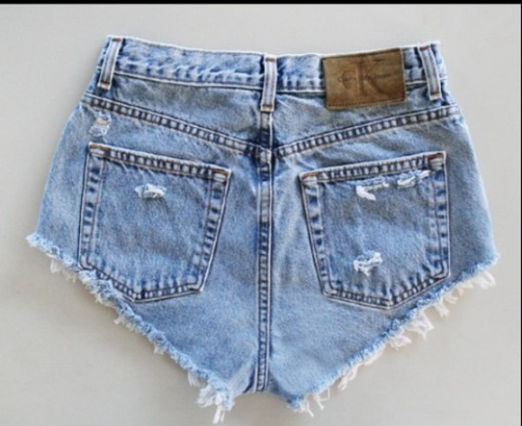 shorts high waisted short denim calvin klein summer hot