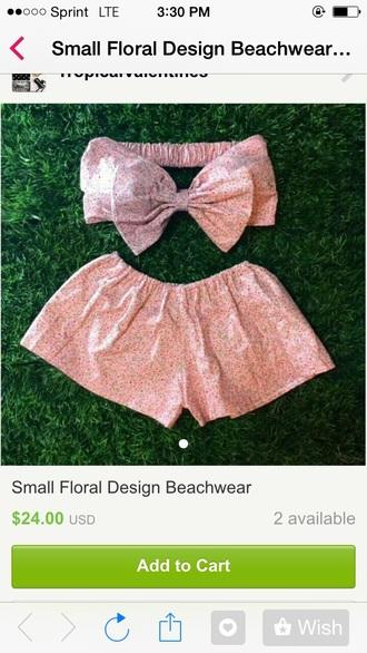 swimwear floral swimwear bows shorts