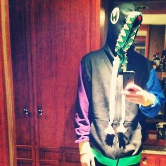 jacket teeth hoodie tyler joseph hoodie green purple blurryface blue black eyes top