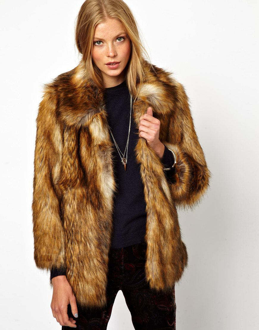 ASOS Vintage Faux Fur Coat on Wanelo