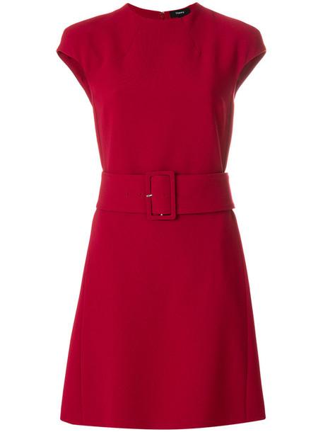 theory dress shift dress women spandex red