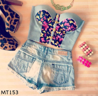 shoes crop tops jewels t-shirt bustier tank top butterfly summer outfits top