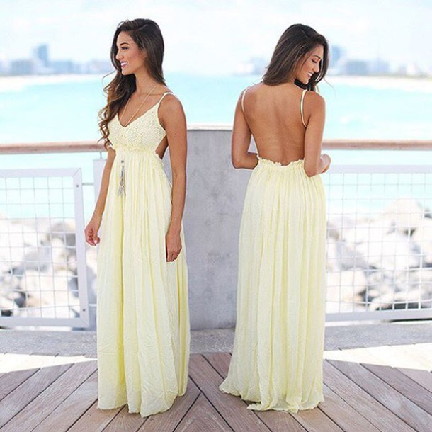 Dress yellow maxi dress lace maxi dress yellow for Yellow maxi dress for wedding