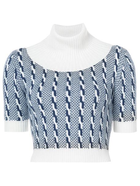 EMILIA WICKSTEAD top women blue knit