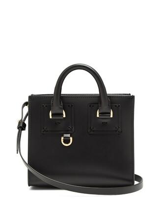 cross mini bag leather black