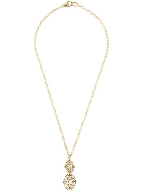 Loree Rodkin women necklace diamond necklace gold yellow grey metallic jewels