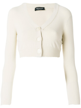 cardigan long cropped women nude sweater