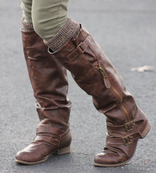 shoes boots brown boots riding boots style