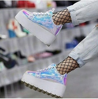 shoes holographic creepers
