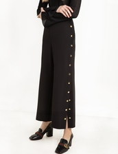 pants,side button pants,black snap button pants,office girl,side button,business casual,office outfits