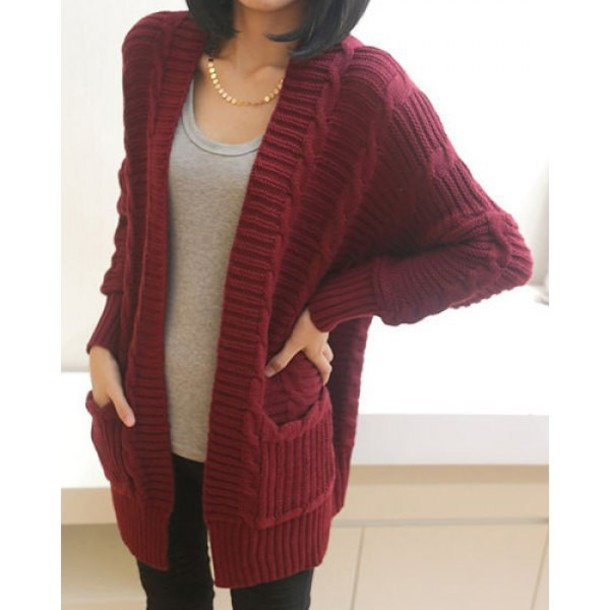 efd84210ef cardigan knitwear burgundy winter outfits warm trendy oversized sweater  stylish autumn winter casual rose wholesale