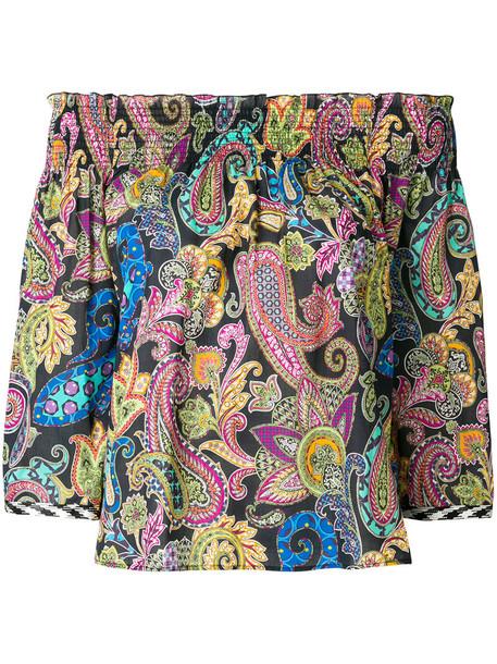 blouse women cotton paisley top