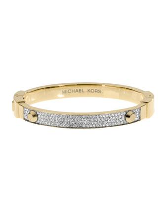 Michael Kors Pave Hinge Bracelet, Golden - Michael Kors