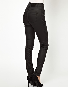 Selected | Selected Luca Coated Jeans with Biker Detailing at ASOS