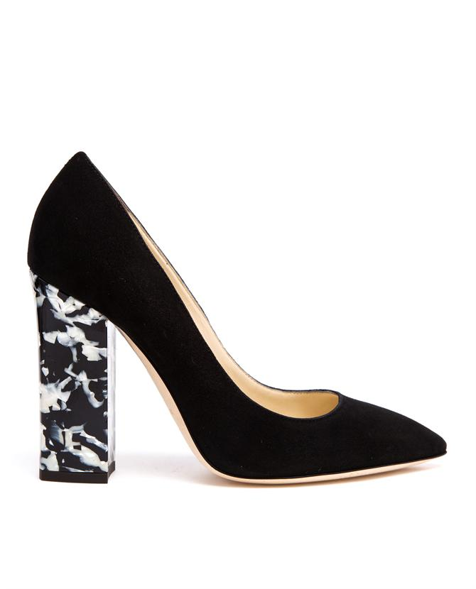 POLLINI | Suede Pumps with Marbled Heel | Browns fashion & designer clothes & clothing