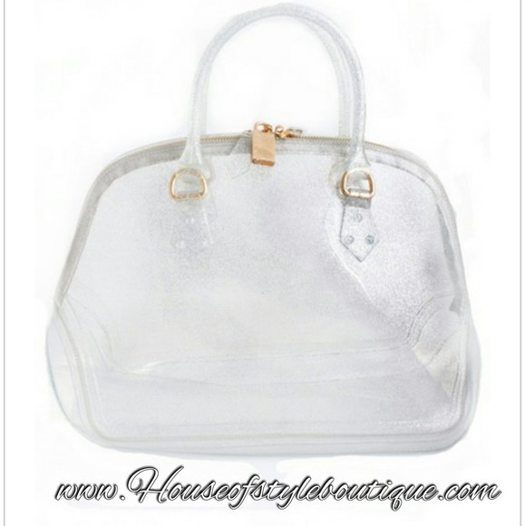 silver bag jelly gliter