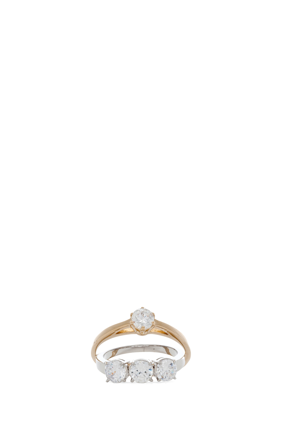 maison martin margiela ring in rhodium gold. Black Bedroom Furniture Sets. Home Design Ideas