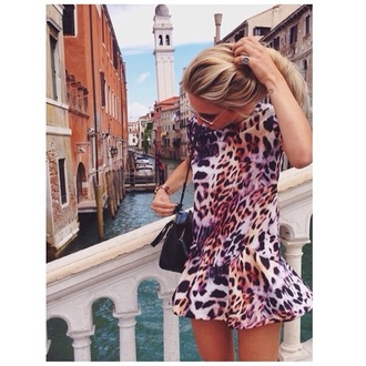 animal print hot animal print short dress little dress
