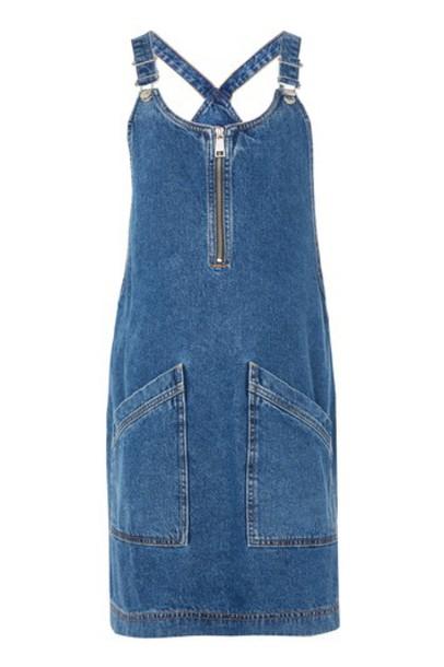 dress pinafore dress zip