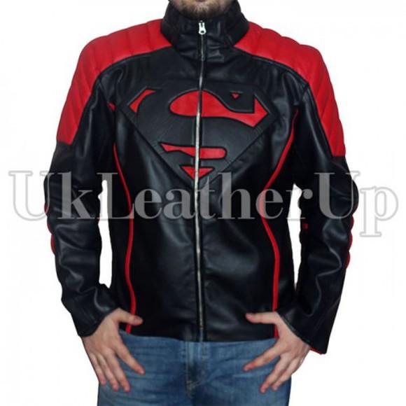 shopping fashion clothes jacket leather jacket superman cloths