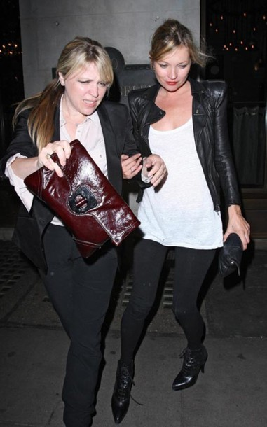 kate moss black jacket jacket