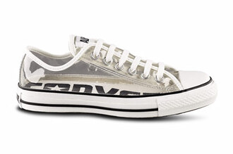 shoes converse clear white black loveem all star chuck taylor all stars jellies cool fashion summer transparent see through trainers sneakers clear shoes shmmer
