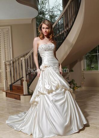 dress wedding dress wedding dresses with crystal wedding dress sparkle wedding dress white lace sparkly long sleeves
